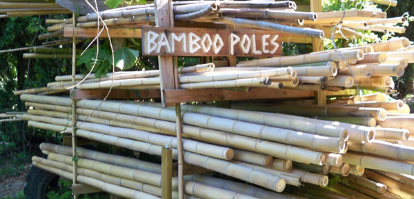 Japanese Timber Bamboo Poles