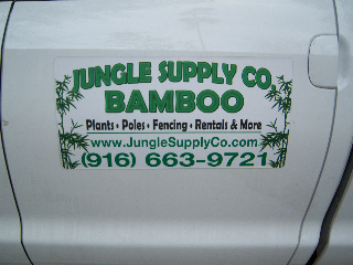 Delivery of Bamboo in California